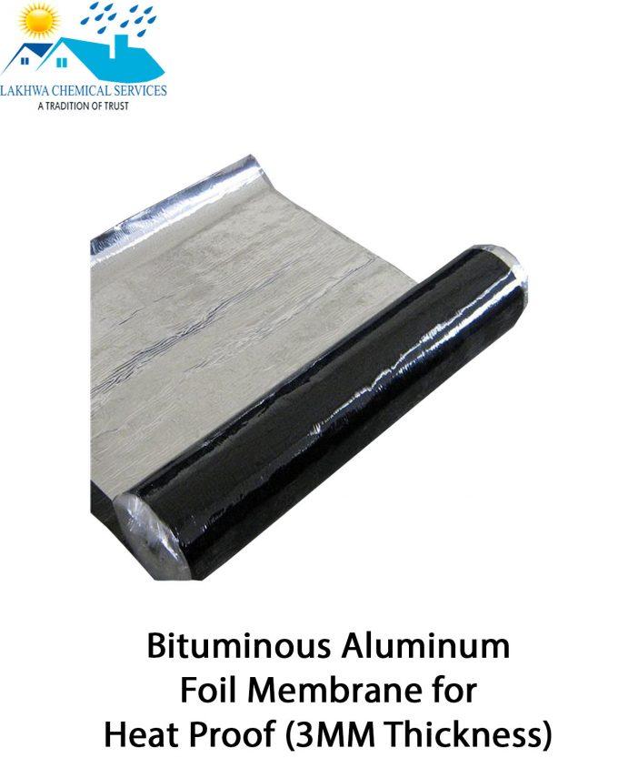 Bituminous Aluminum Foil Membrane Heat Proof | bitumen membrane in Pakistan | bitumen membrane in Karachi | lakhwa chemical Services